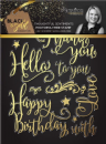 Sara Signature : Black & Gold - Photopolymer Stamp - Thoughtful Sentiments